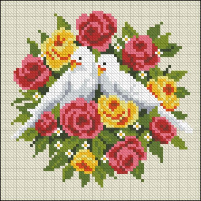 ВЫШИВАЙ. ру » Диптих с голубями_1: авторские схемы 30