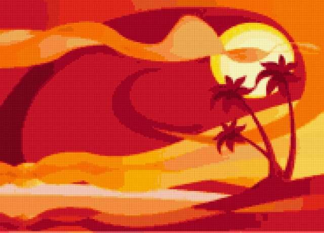 К схеме вышивки «Пустыня» нет