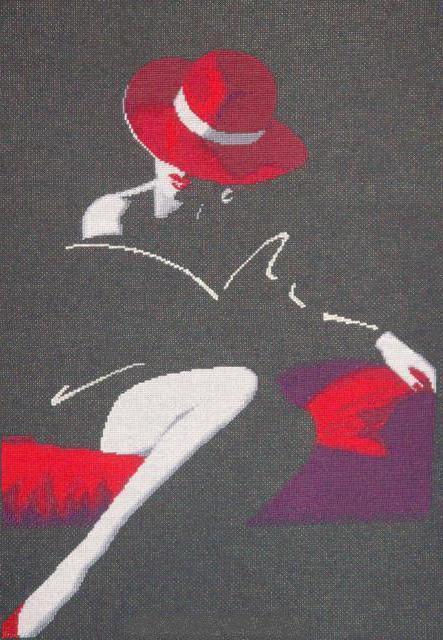 Дама в красной шляпе, оригинал