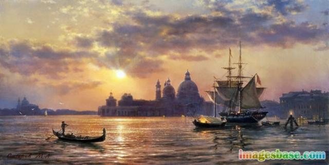 Закат в Венеции, оригинал
