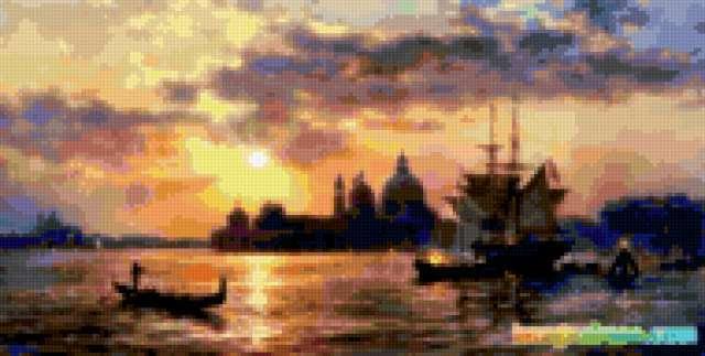 Закат в Венеции, предпросмотр