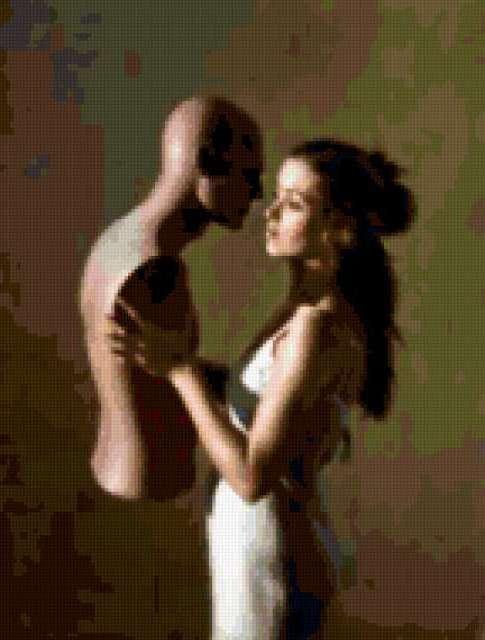 Женщина и манекен