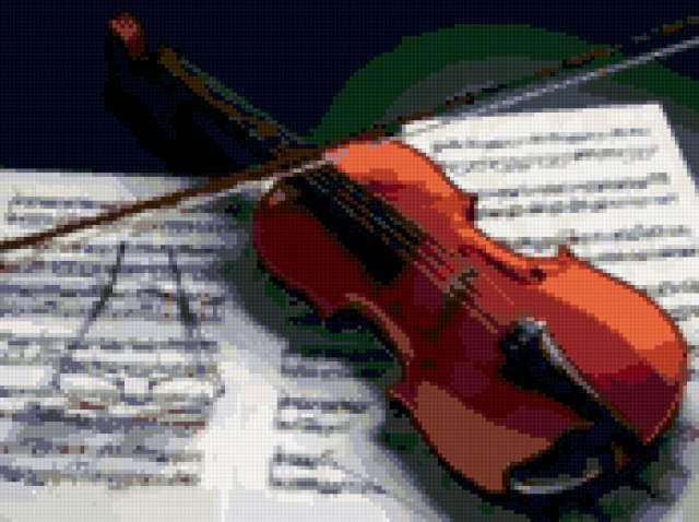 Скрипка и ноты, предпросмотр