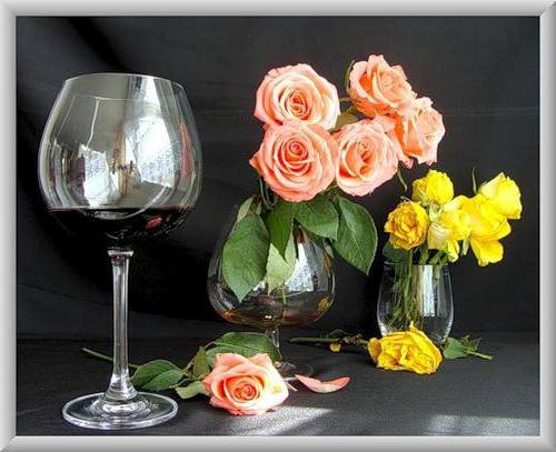 Цветы и вино, оригинал
