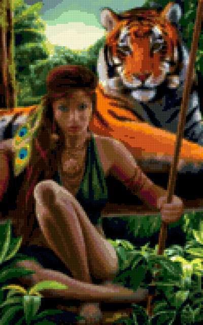Амазонка, девушка, красивая