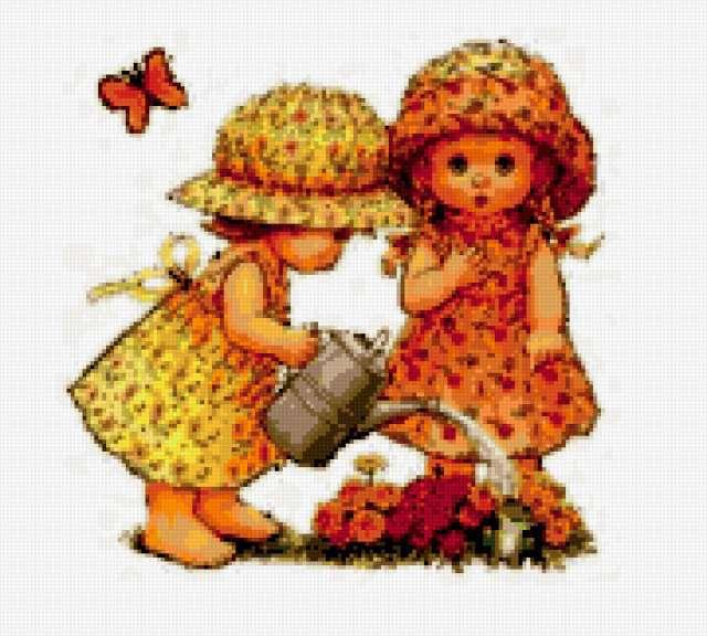 Схема вышивок маленькая девочка
