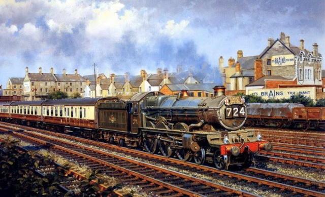 Едет поезд, поезд, пейзаж,