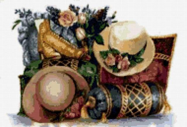 Шляпы и цветы, предпросмотр