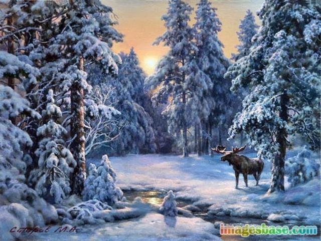 Русская зима 2 (живопись),