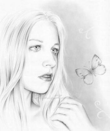 Девушка и бабочка, оригинал