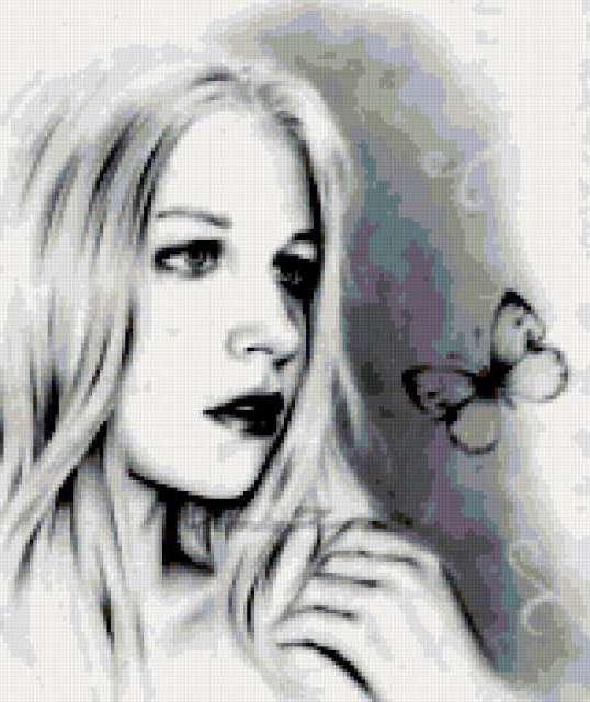 Девушка и бабочка