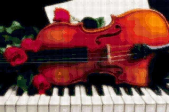 Скрипка на рояле, предпросмотр