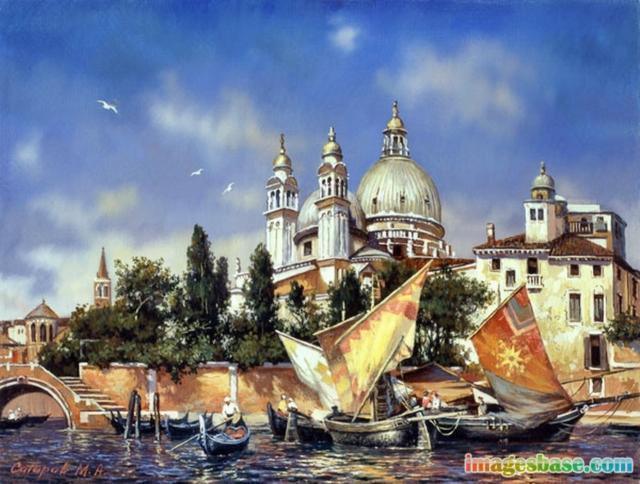 Венеция 9 (живопись), италия,
