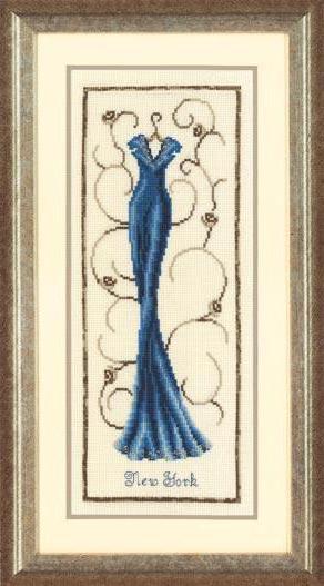 Синее платье, одежда, платье,