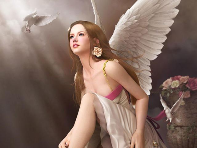 Ангел 9, ангел, девочка,
