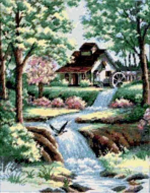 Водяная мельница, предпросмотр