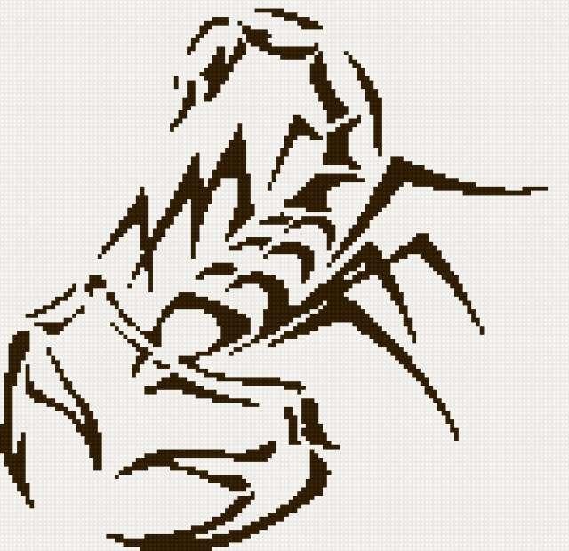Схемы вышивок скорпиона