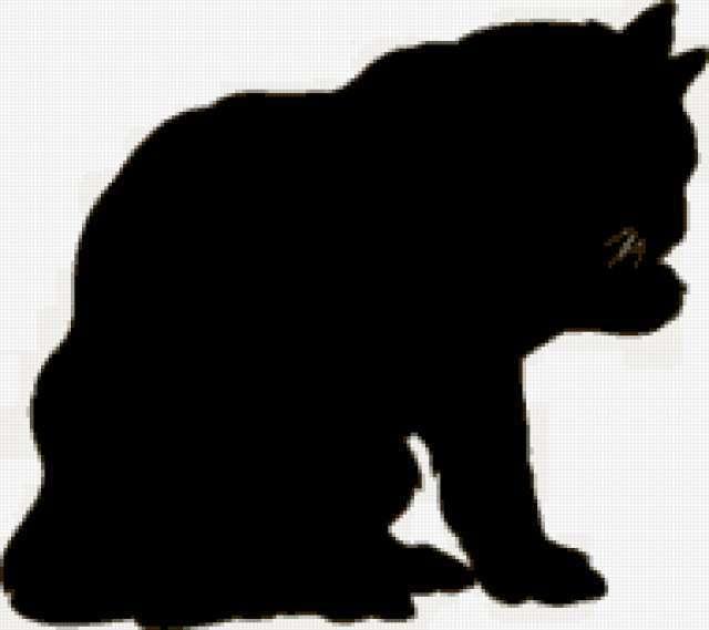 Силуэт чёрного кота