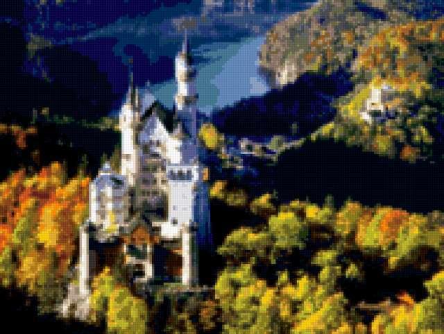 Сказочный замок Нейшванштейн ,