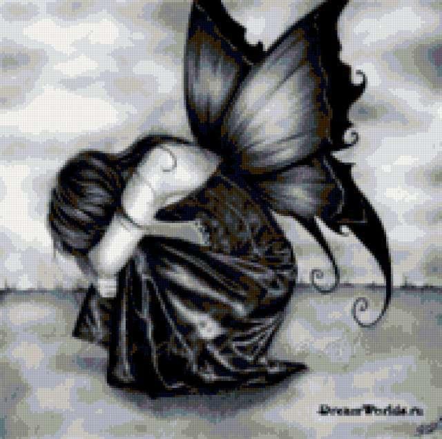 Девушка-бабочка, предпросмотр