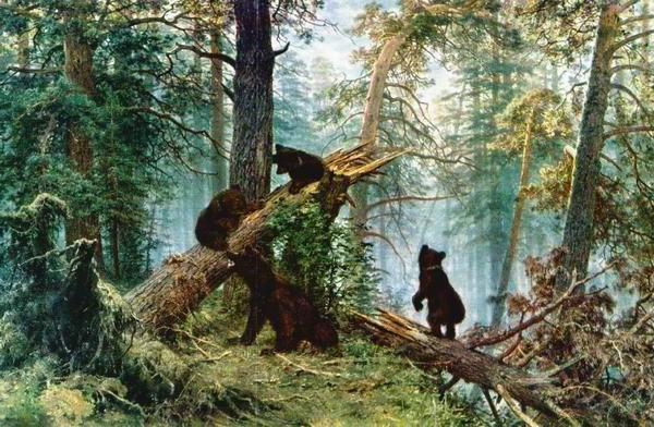 Три медведя, животные