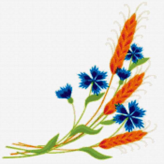 Схемы вышивки пшеница
