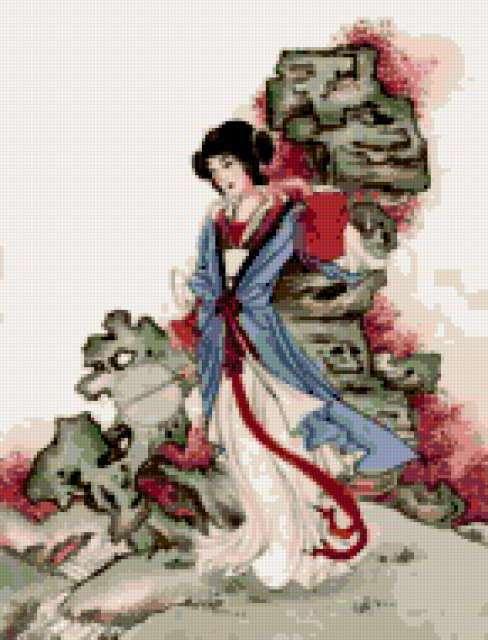 К схеме вышивки «Китайская