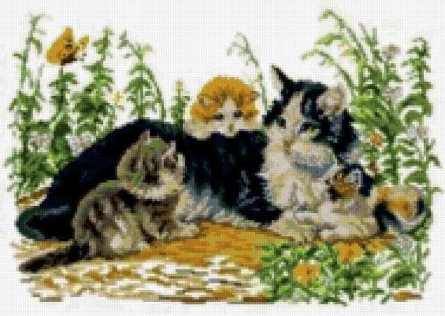 К схеме вышивки «Кошка и