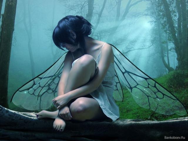 Девушка с крыльями 1, оригинал