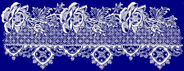 Схемы вышивки кружева