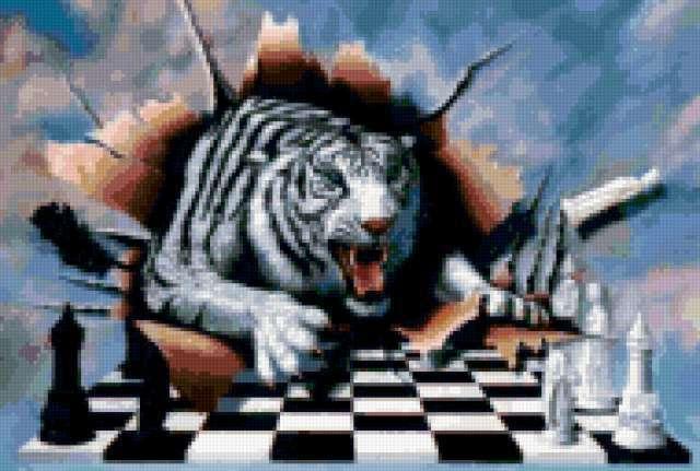 Шахматный тигр, предпросмотр