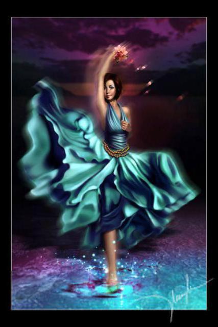 Танцовщица в голубом, оригинал