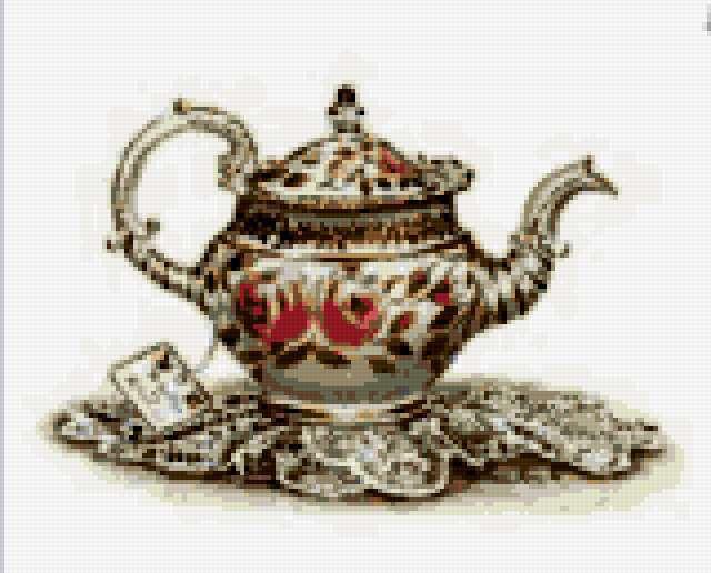 Фарфоровый чайник, чайник