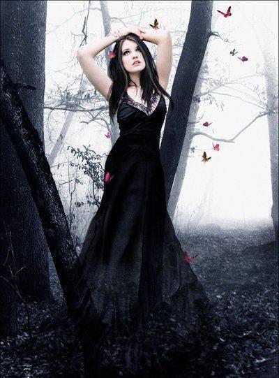 Девушка в чёрном платье фото 521-422