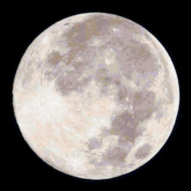 Полная луна, луна, ночь