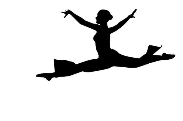 Балерина, девушка, силуэты