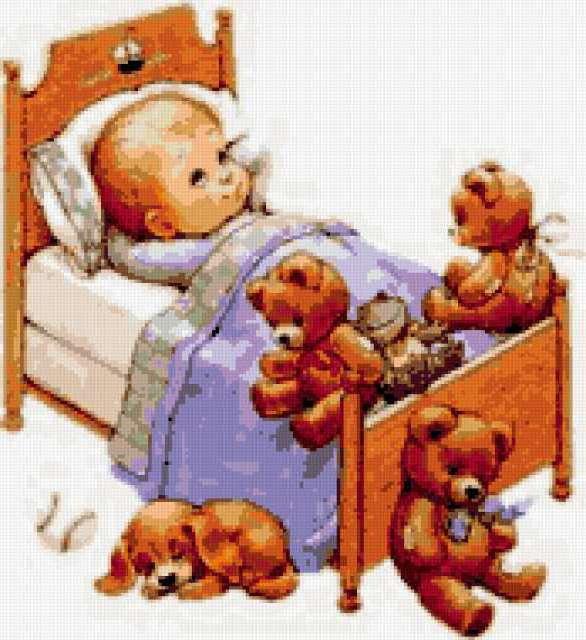 Мишки у малыша, предпросмотр