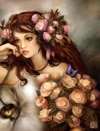 Девушка роза, оригинал