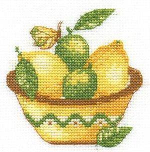Схема вышивки крестом Лимон : Онлайн-мастерская вышивки 100