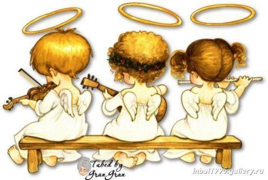 Вышивки 3 ангелочка