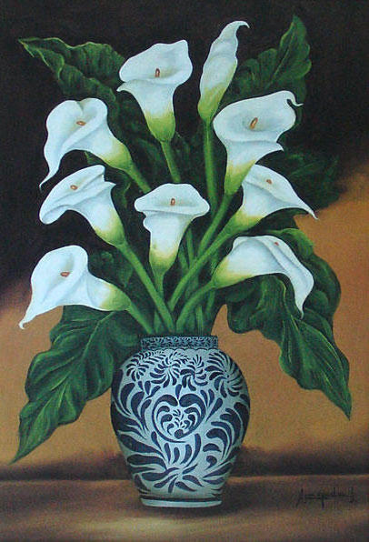 Каллы в вазе, оригинал