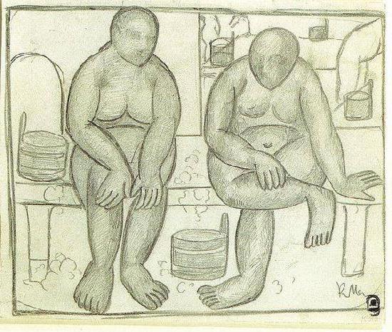 В бане, оригинал