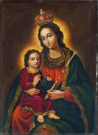 Мария и Иисус, икона, мария,
