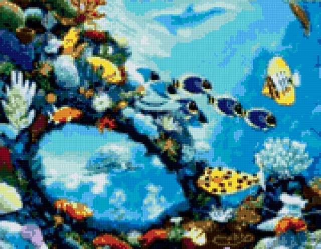 Схемы вышивки крестом аквариумов