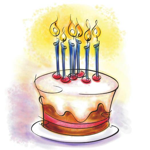 Тортик со свечками, оригинал