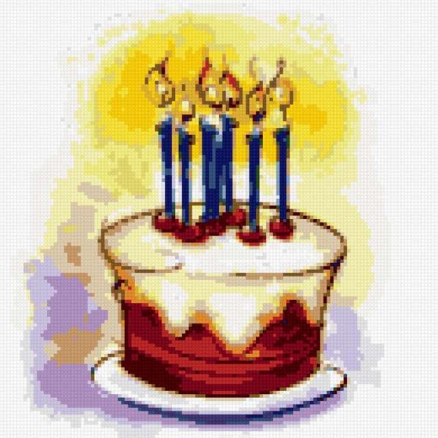 Тортик со свечками