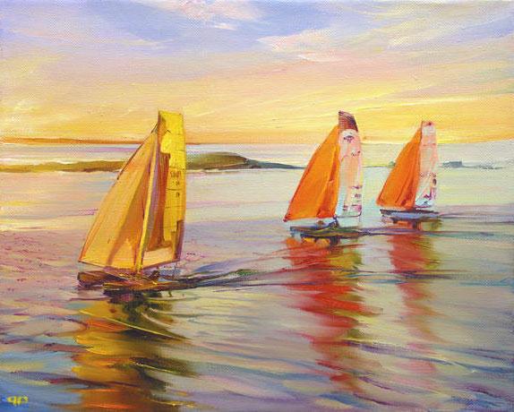 Паруса, яхты, море, паруса