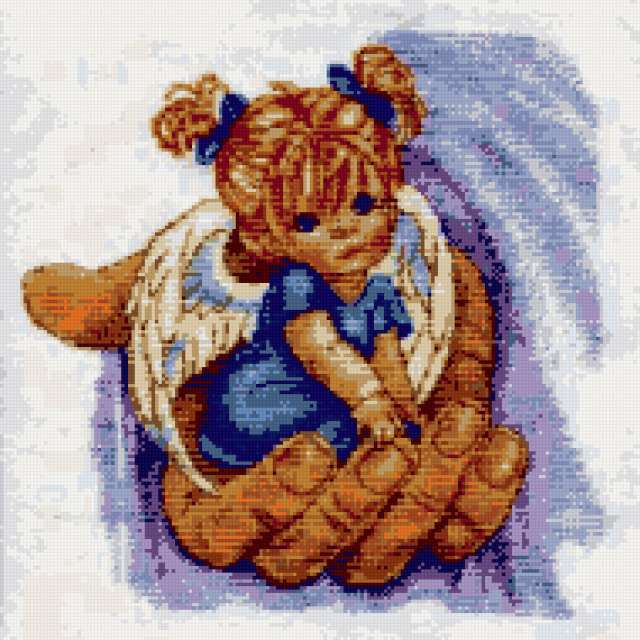 Схемы вышивки крестом держась за руки