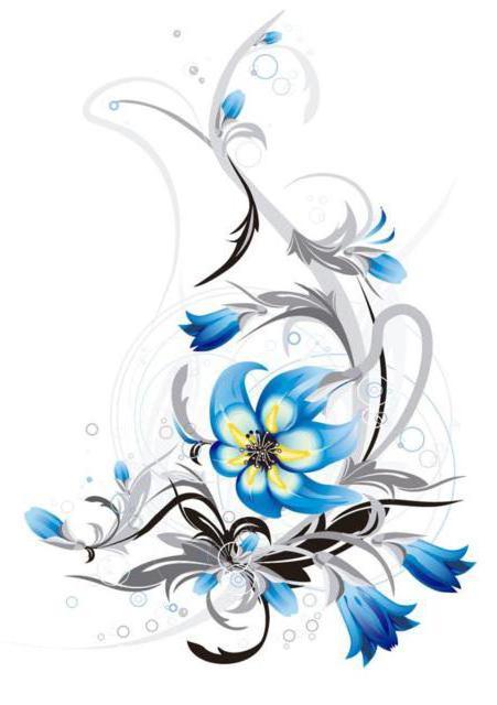 Синие цветы, оригинал
