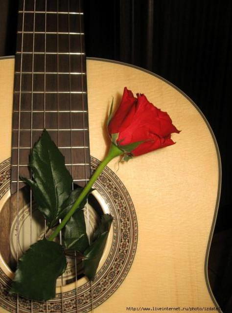 Гитара с розой, оригинал